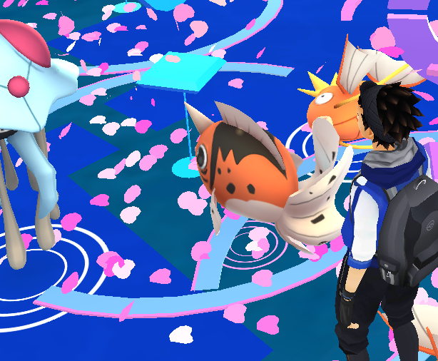 「ポケモンGO」白とピンクの円
