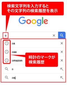 Googleの検索履歴 2